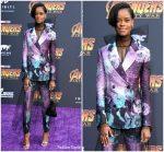 Letitia Wright In Prada  @ 'Avengers: Infinity War' LA Premiere