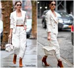 Lily Aldridge' In Isabel Marant @ Out In New York