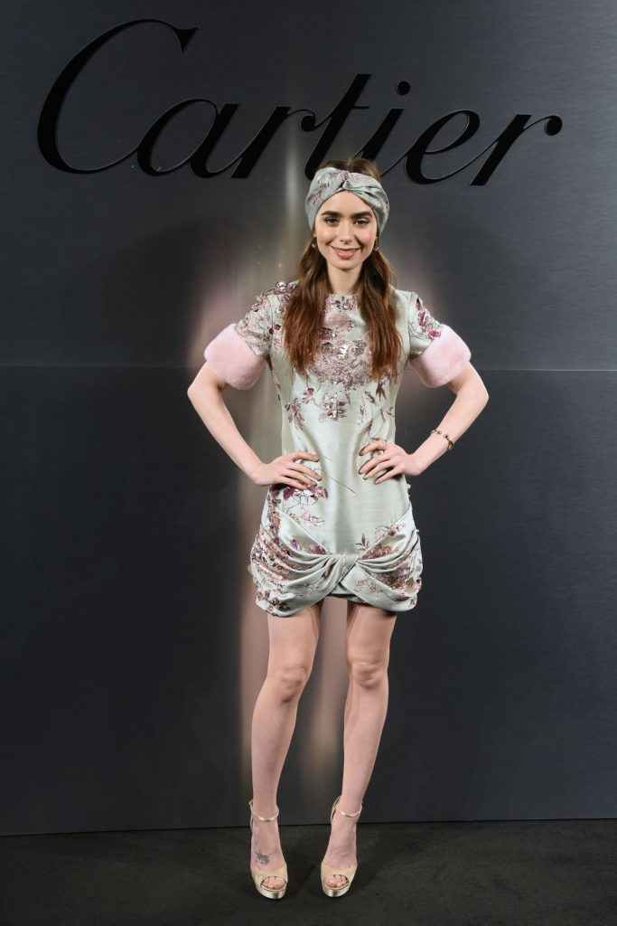 Lily Collins In Ralph Amp Russo Bold Amp Fearless Santos
