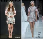 Lily Collins  In Ralph & Russo @ 'Bold & Fearless' Santos De Cartier Watch Launch