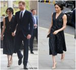 Meghan Markle  In  Hugo Boss @ Memorial Service in London