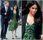 Meghan Markle  In Self Portrait   & Alexander McQueen  @ Invictus Games Reception  In London