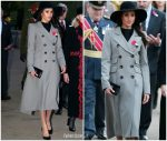 Meghan Markle  In Smythe  Coat @   Anzac Day Dawn Services