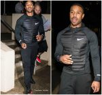 Michael B.Jordan  In Nike  @ Dinner with the cast of Creed 2