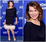 Milla Jovovich In Prada  @ Montblanc Meisterstuck Le Petit Prince Event