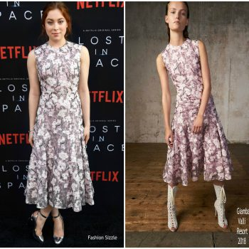 mina-sundwall-in-giambattista-valli-netflixs-lost-in-space-season-1-premiere-in-la