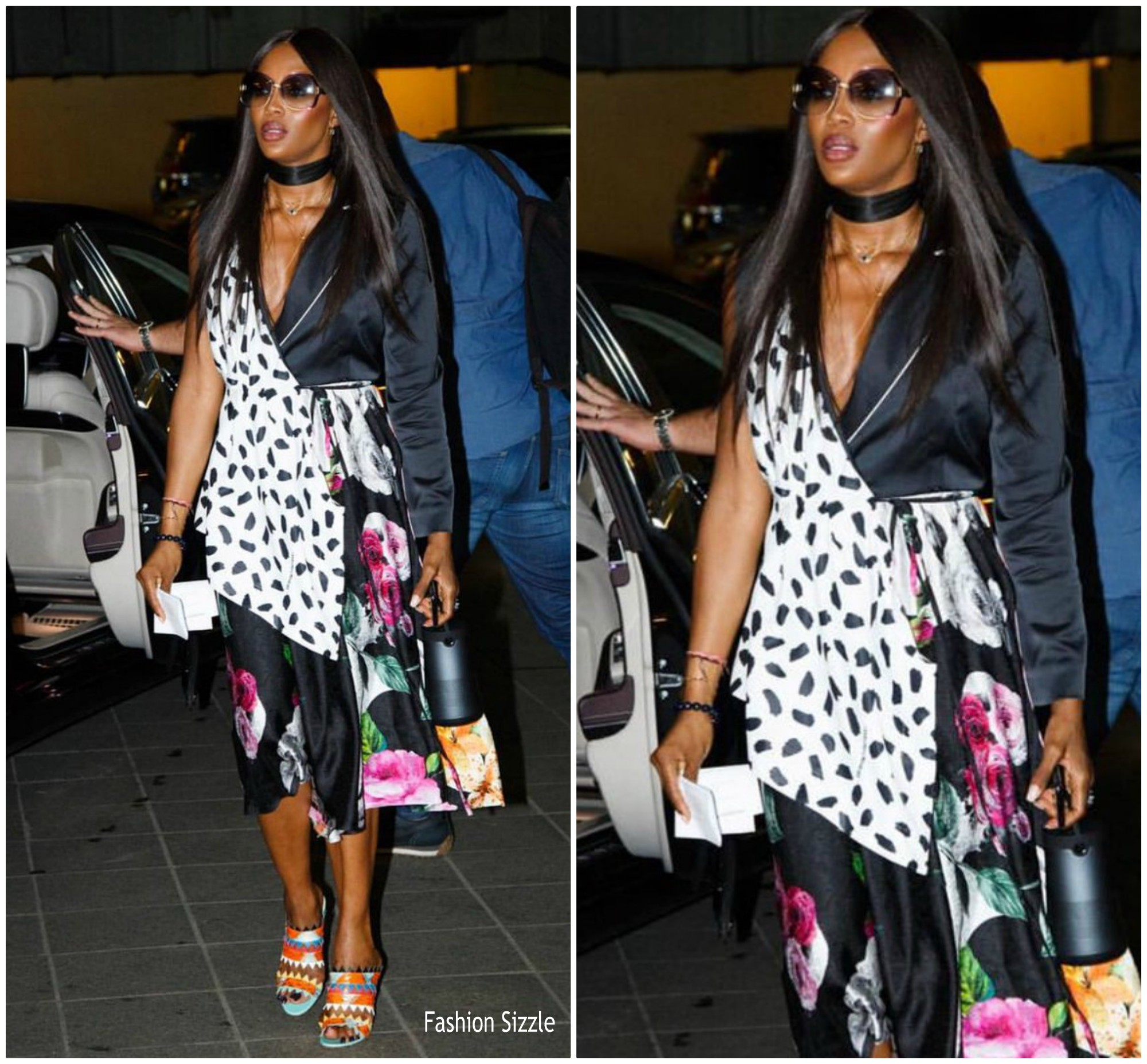 Naomi Campbell In Off White Arriving Arise Fashion Week