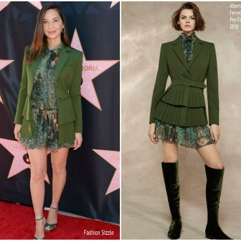 olivia-munn-in-alberta-ferretti-eva-longorias-star-on-hollywood-walk-of-fame-unveiling