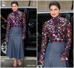 Priyanka Chopra In  Carolina Herrera   @ Tonight Show Starring Jimmy Fallon