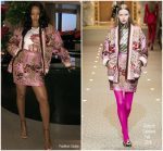 Rihanna In  Dolce & Gabbana @ Out In Milan