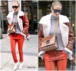 Rosie Huntington-Whiteley In  Acne ,Givenchy  & Chloe – Out In New York
