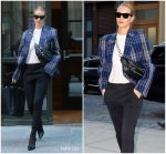 Rosie Huntington-Whiteley  In Acne Studios  -Out In New York