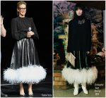 Sarah Paulson In Christopher Kane @ 'The House With A Clock In Its Walls' CinemaCon Presentation