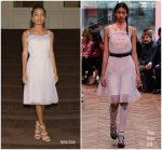 Yara Shahidi In Prada  @ 'Accessories for Success' Scholarship Luncheon