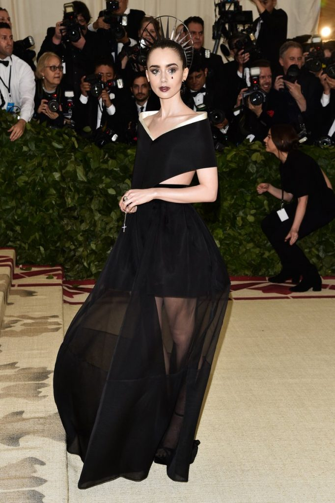Image result for lily collins 2018 met gala
