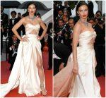 """Adriana Lima  In Alberta Ferretti  @ """"Burning """" Cannes Film Festival Premiere"""