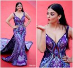 Aishwarya Rai Bachchan In Michael Cinco Couture  @ 'Girls Of The Sun (Les Filles Du Soleil)' Cannes Film Festival Premiere