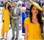 Amal Clooney  In Stella McCartney @ Prince Harry & Meghan Markle's Royal Wedding