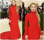 Amber Heard In Carolina Herrera  @ 2018 Met Gala