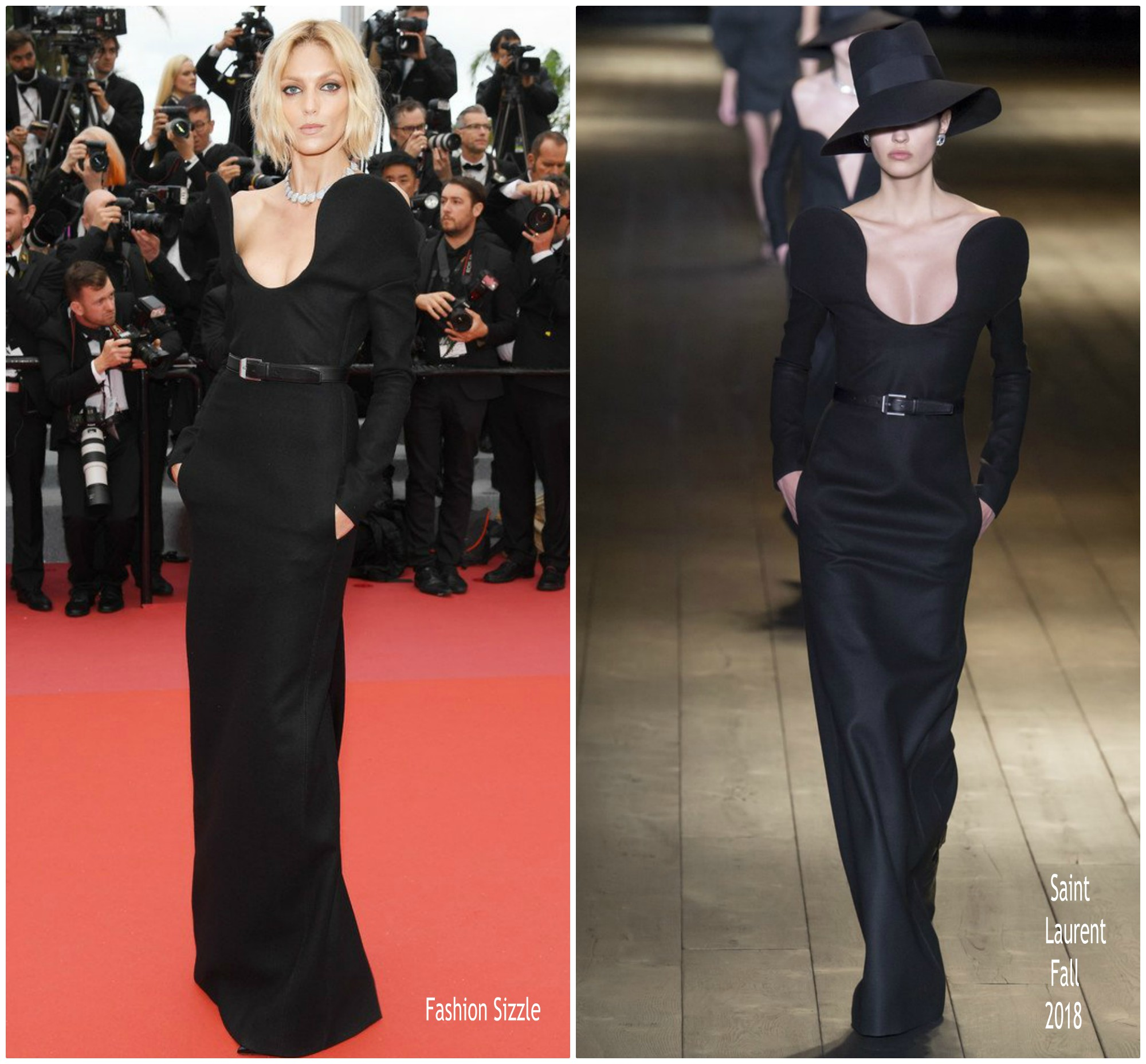 anja-rubik-in-saint-laurent-blackkklansman-cannes-film-festival-premiere