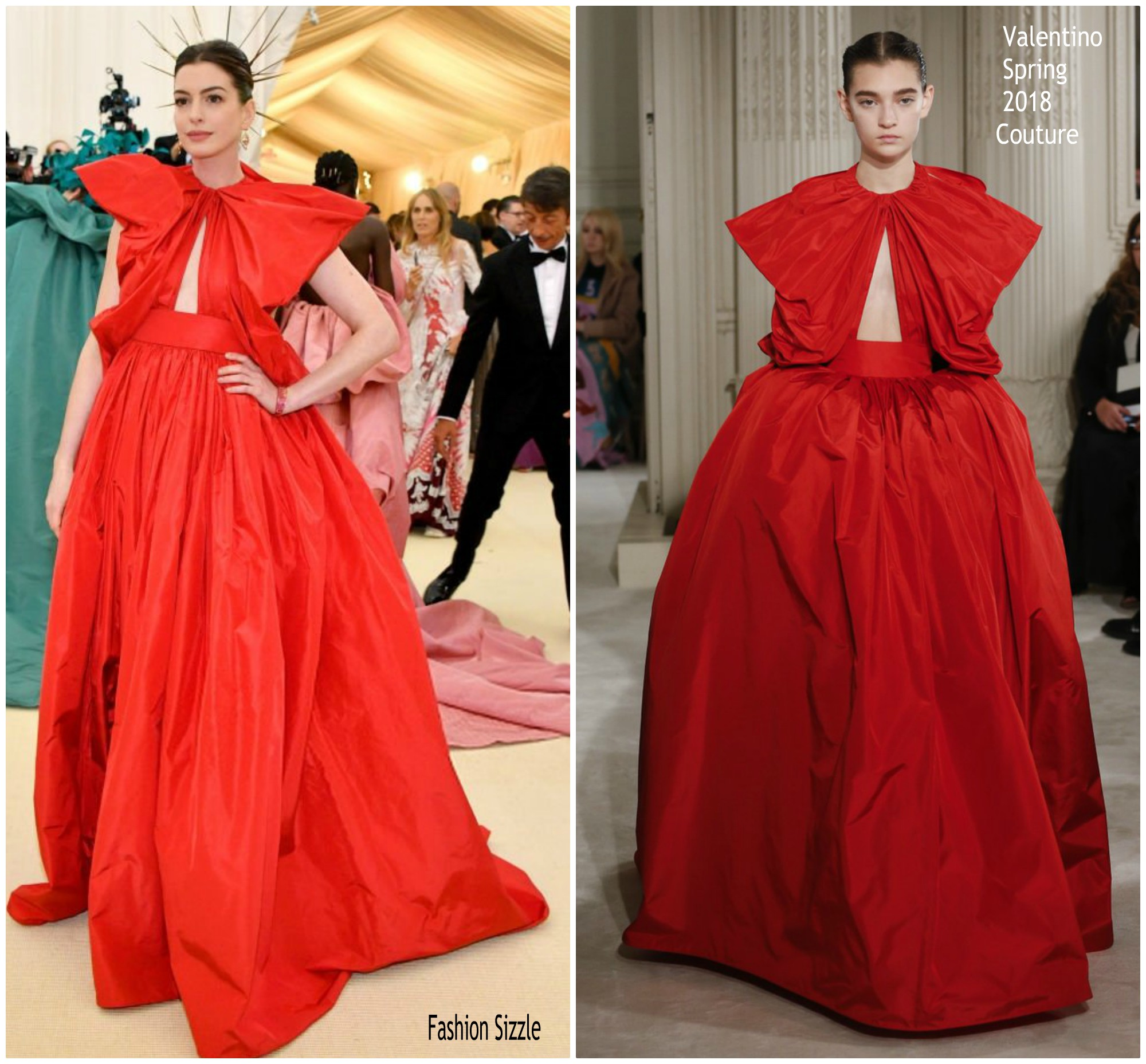 Anne Hathaway In Valentino Couture @ 2018 Met Gala