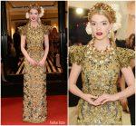 Anya Taylor Joy In Dolce & Gabbana Alta Moda  @  2018 Met Gala