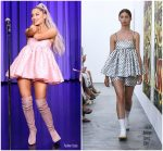 Ariana Grande  In Cecilie Bahnsen  @ Tonight Show Starring Jimmy Fallon