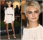 Cara Delevingne  The Opening Of Longchamp Fifth Avenue Flagship