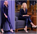 Cate Blanchett  In   Armani @  Tonight Show Starring Jimmy Fallon