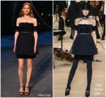 Clémence Poésy In Chanel  @ Chanel Resort 2019 Fashion Show In Paris