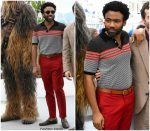 Donald Glover In  Gucci  @ Solo: A Star Wars Story Photocall