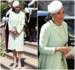 Doria Ragland In Oscar De La Renta  @  @ Prince Harry & Meghan Markle's Royal Wedding