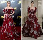 Emilia Clarke In Valentino Haute Couture  @ 'SOLO: A Star Wars Story' LA Premiere