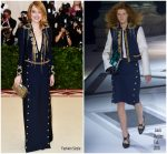 Emma Stone  In Louis Vuitton @ 2018 Met Gala