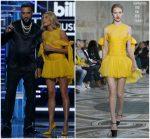 Hailey Baldwin  In Giambattista Valli  Couture  @ 2018 Billboard Music Awards