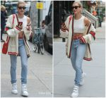 Hailey Baldwin  In Gucci  Out In New York