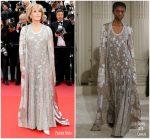 Jane Fonda  In Valentino  Couture @ 'BlacKkKlansman' Cannes Film Festival Premiere