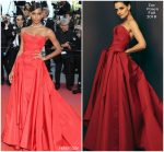 Jasmine Tookes  In Zac Posen @ 'Girls Of The Sun (Les Filles Du Soleil)' Cannes Film Festival Premiere