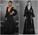 Jasmine Tookes  In Zuhair Murad @ Chopard Secret Night Party 2018 Cannes Film Festival