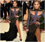 Jennifer Lopez In Balmain  @ 2018 Met Gala