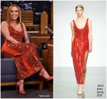 "Jennifer Lopez  In David Koma  @  ""The Tonight Show Starring Jimmy Fallon""."