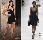 Kaia Gerber In Versace  @ OMEGA Tresor Event
