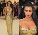 Kim Kardashian In Atelier Versace  @ 2018 Met Gala