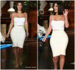 Kim Kardashian In Calvin Klein & Rick Owens  @ The Ellen DeGeneres Show