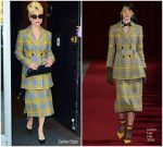Lady Gaga In Calvin Luo  @ Electric Lady Studios