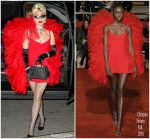 Lady Gaga In  Christian Siriano  @ Rose Bar