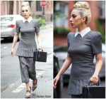 Lady Gaga In Fendi @  Out in New York
