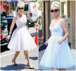Lady Gaga In Valentino – Out In New York