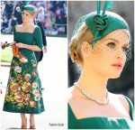 Lady Kitty Spencer In Dolce & Gabbana Alta Moda  @ Prince Harry & Meghan Markle's Royal Wedding