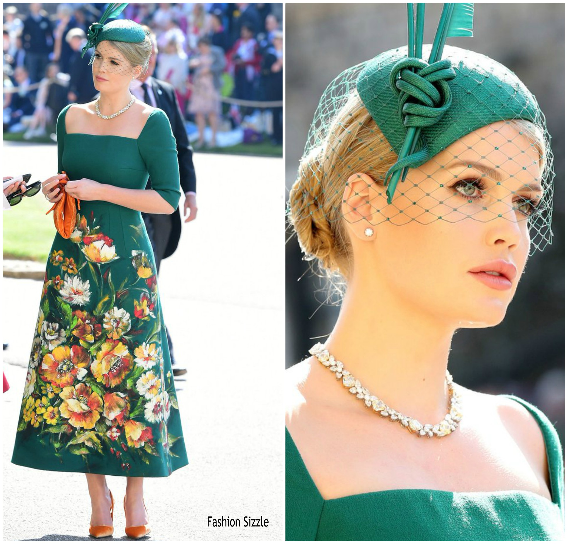 5a187484 Lady Kitty Spencer In Dolce & Gabbana Alta Moda @ Prince Harry & Meghan  Markle's Royal Wedding
